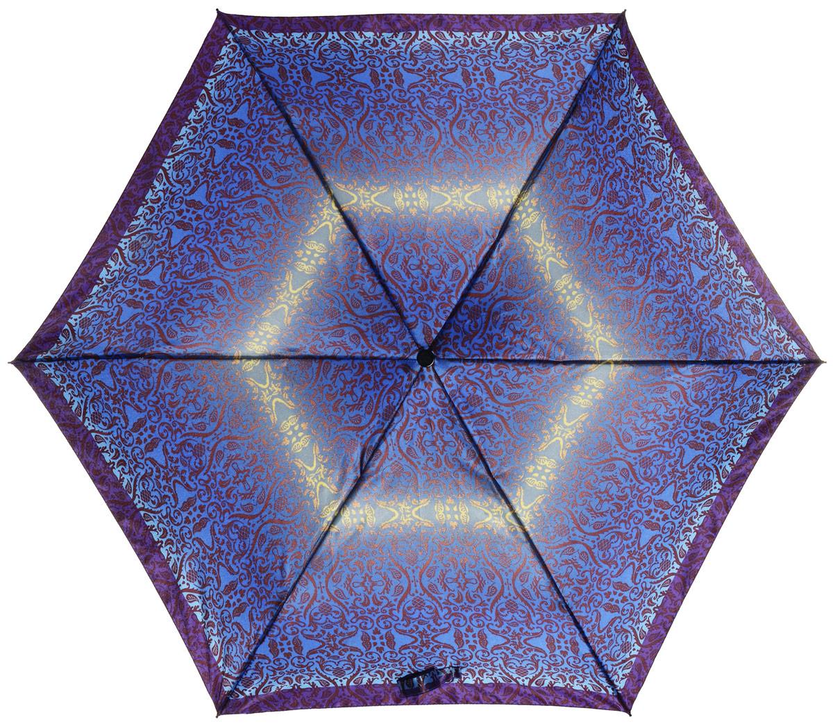Зонт женский Labbra, автомат, 3 сложения, цвет: синий, фиолетовый. A3-05-LR030