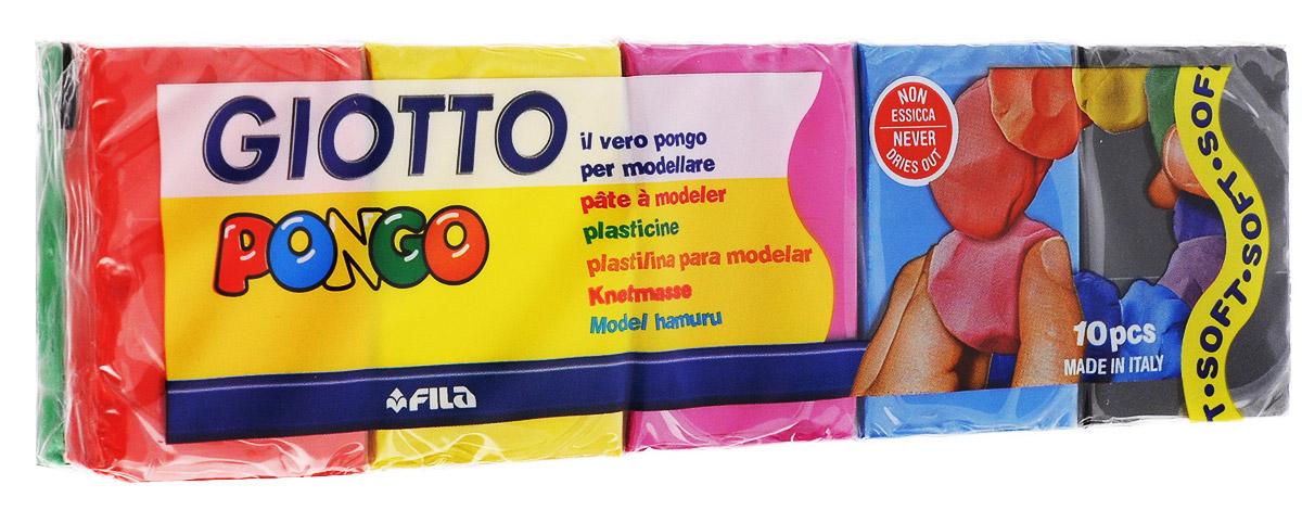 Giotto Пластилин восковой Pongo 10 цветов