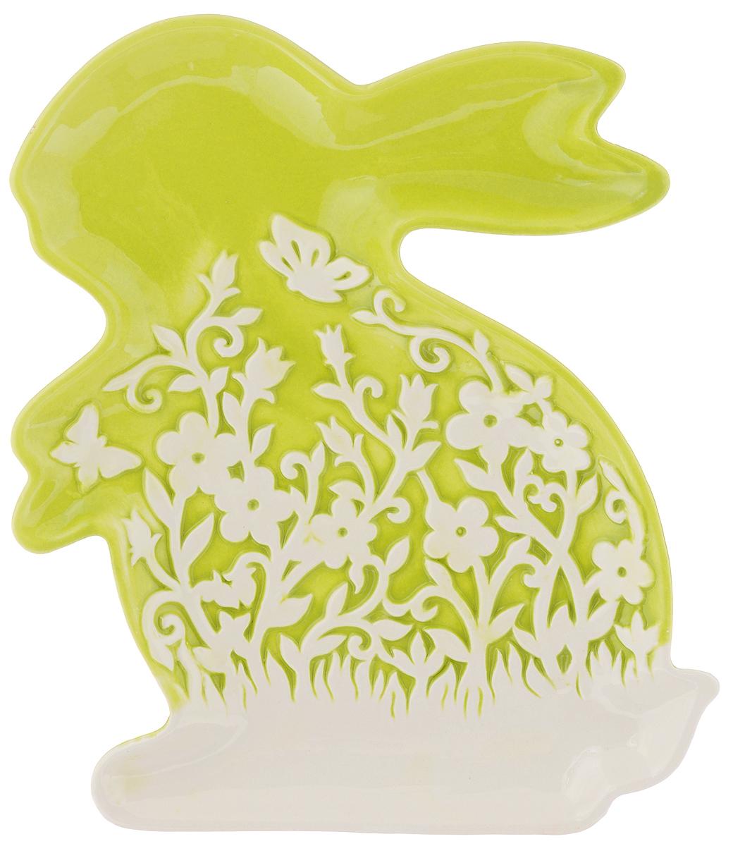 Блюдо Patricia Кролик, 22,5 х 19 х 2,5 смIM16-0312Блюдо Patricia Кролик изготовлено из высококачественной керамики. Изделие выполнено в виде кролика. Внутренняя часть блюда оформлена цветочным рисунком. Блюдо Patricia Кролик в светлый праздник Пасхи станет не только украшением вашего стола, но и отличным подарком. Не рекомендуется мыть в посудомоечной машине. Размер тарелки: 22,5 х 19 х 2,5 см.