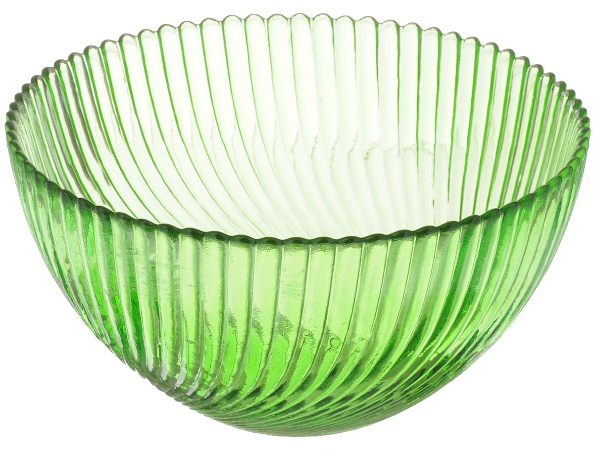 Салатник Ninaglass Альтера, цвет: зеленый, диаметр 16 смNG83-037GСалатник Ninaglass Альтера выполнен из высококачественного стекла и декорирован рельефным узором. Он подойдет для сервировки стола как для повседневных, так и для торжественных случаев. Такой салатник прекрасно впишется в интерьер вашей кухни и станет достойным дополнением к кухонному инвентарю. Подчеркнет прекрасный вкус хозяйки и станет отличным подарком. Не рекомендуется использовать в микроволновой печи и мыть в посудомоечной машине. Диаметр салатника (по верхнему краю): 16 см. Высота стенки: 8 см.