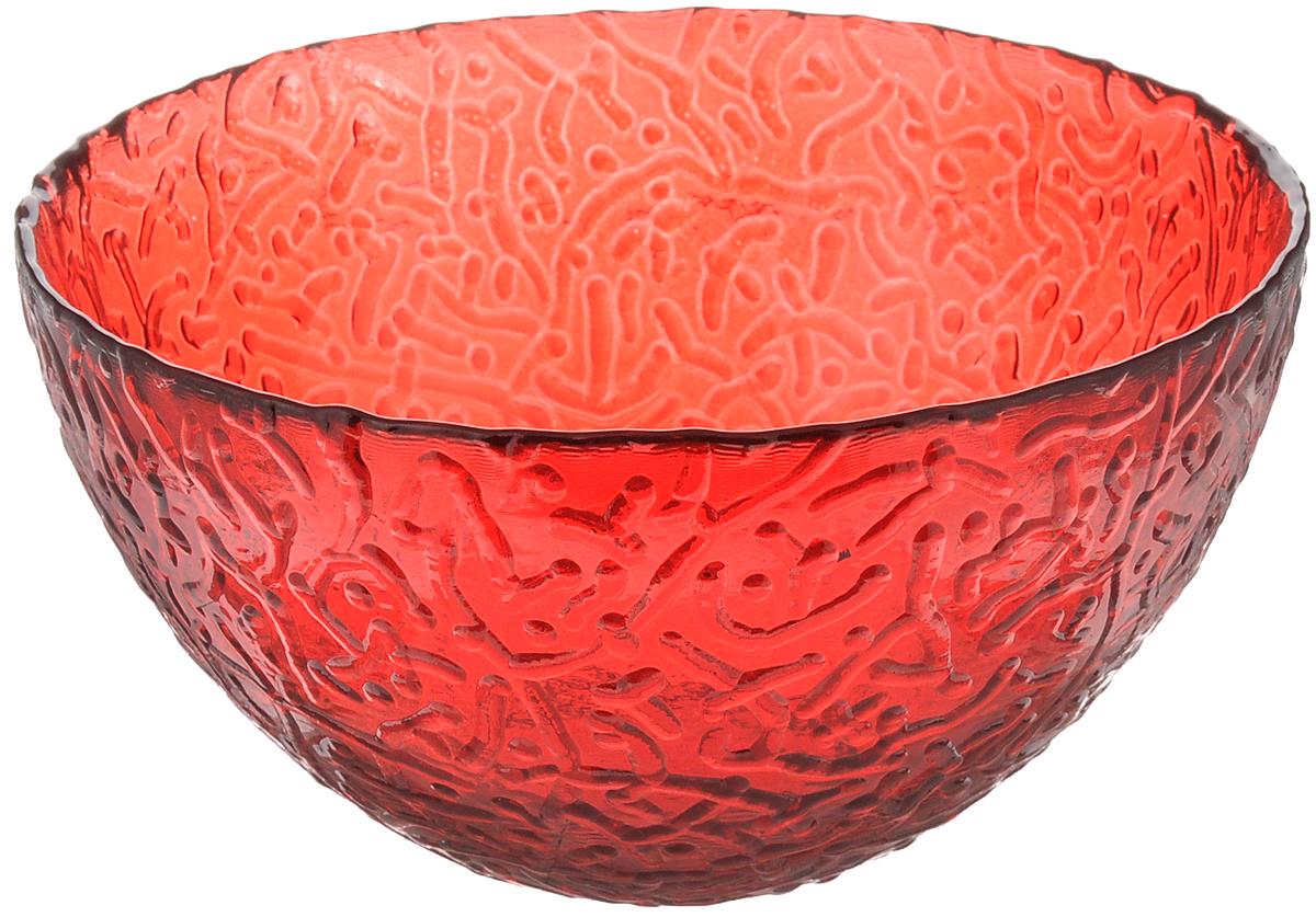 Салатник Ninaglass Ажур, цвет: красный, диаметр 16 смNG83-041RСалатник Ninaglass Ажур выполнен из высококачественного стекла и декорирован рельефным узором. Он подойдет для сервировки стола как для повседневных, так и для торжественных случаев. Такой салатник прекрасно впишется в интерьер вашей кухни и станет достойным дополнением к кухонному инвентарю. Подчеркнет прекрасный вкус хозяйки и станет отличным подарком. Не рекомендуется использовать в микроволновой печи и мыть в посудомоечной машине. Диаметр салатника (по верхнему краю): 16 см. Высота стенки: 8 см.