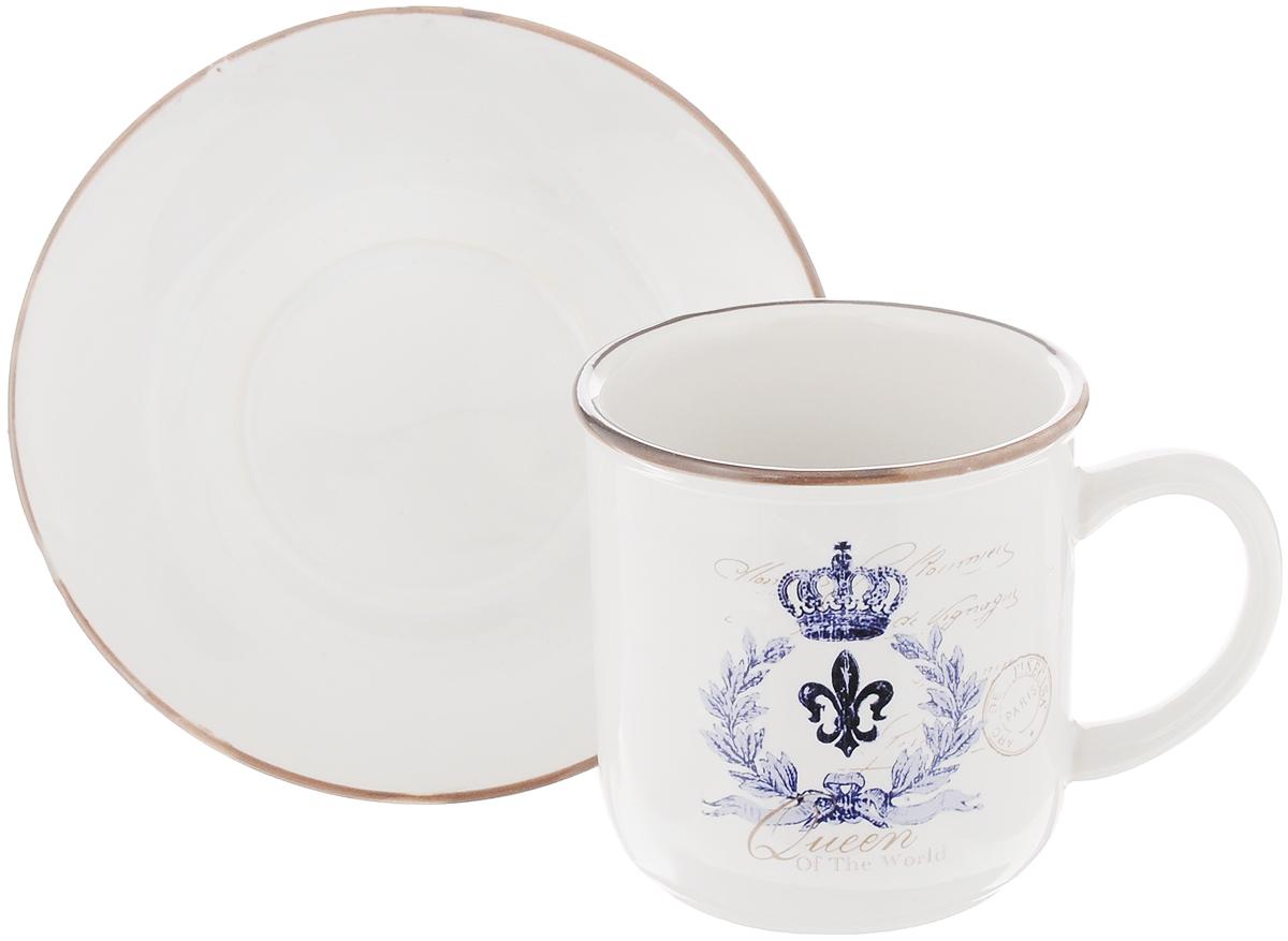 Чайная пара Королевский, 2 предметаLF-410F5763-1-ALЧайный набор Королевский, выполненный из высококачественной керамики, состоит из чашки и блюдца. Внешние стенки чашки выполнены в ярком дизайне. Чайная пара - идеальный подарок для вашего дома и для ваших друзей в праздники, юбилеи и торжества. Она также станет отличным украшением любой кухни. Можно мыть в посудомоечной машине и использовать в микроволновой печи. Объем чашки: 200 мл Диаметр чашки по верхнему краю: 8 см Высота чашки: 8 см Диаметр блюдца: 13,5 см Высота блюдца: 2 см.