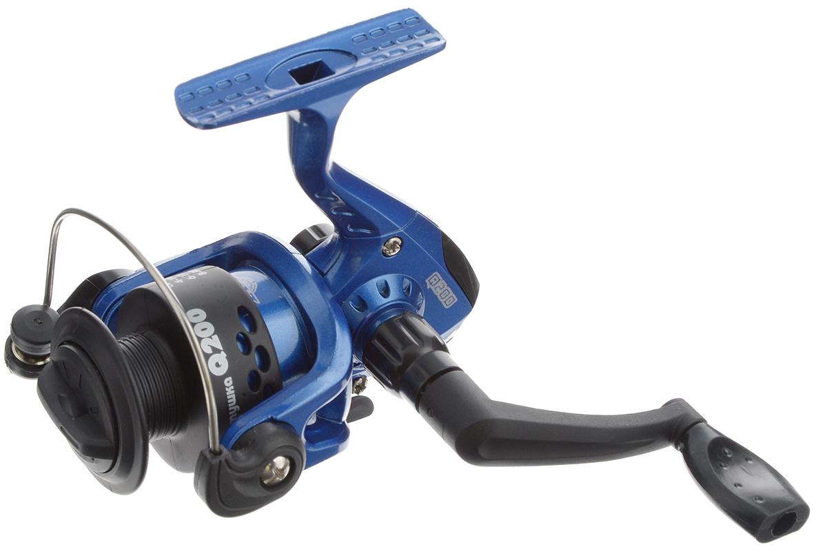Катушка безынерционная Onlitop Q200 2ВВ, цвет: черный, синий, 2 подшипника132529_черный, синийОблегченная безынерционная катушка Onlitop Q200 2ВВ, изготовленная из алюминия, снабжена пластиковой шпулей и задним многосекционным фрикционом. Благодаря своему небольшому весу рекомендуется для использования на продолжительных рыбалках, при ловле в заброс и на поплавок. Катушка обеспечивает равномерную укладку любых видов лески, имеет систему оптимальной балансировки ротора. Имеется возможность переноса ручки под правую либо левую руку. Передаточное число: 5,2:1. Емкость шпули (мм\м): 0,15/230; 0,18/160; 0,2/130.