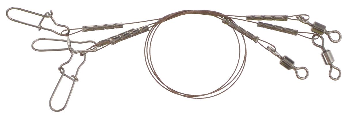 Поводок Win AFW 7х7, тест 8 кг, 10 см, 3 шт56960Поводок Win AFW 7х7 изготовлен из поводкового материала Surfstrand Micro Supreme, фирмы AFW (США). Данный материал имеет маскирующее покрытие Camo, подходящее для большинства водоемов. Поводок очень мягкий и устойчивый к деформации. Не подвержен коррозии, не токсичен. Особенности поводка: - Многократно испытан на прочность; - Высококачественная фурнитура подобрана с достаточным запасом прочности; - Контроль качества на всех этапах производства.