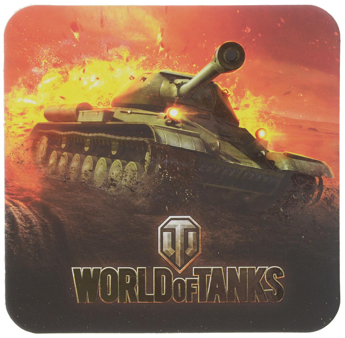 Костер пробковый World of Tanks, 10 х 10 см1501Костер пробковый World of Tanks - это оригинальная, не впитывающая влагу подставка под стакан или кружку с любимым напитком. Пробковое основание защитит от скольжения, а логотип World of Tanks будет отлично смотреться на столе любого игрока. Изделие имеет матовую одностороннюю ламинацию с выборочным УФ-лаком, который выделяет отдельные фрагменты изображения.