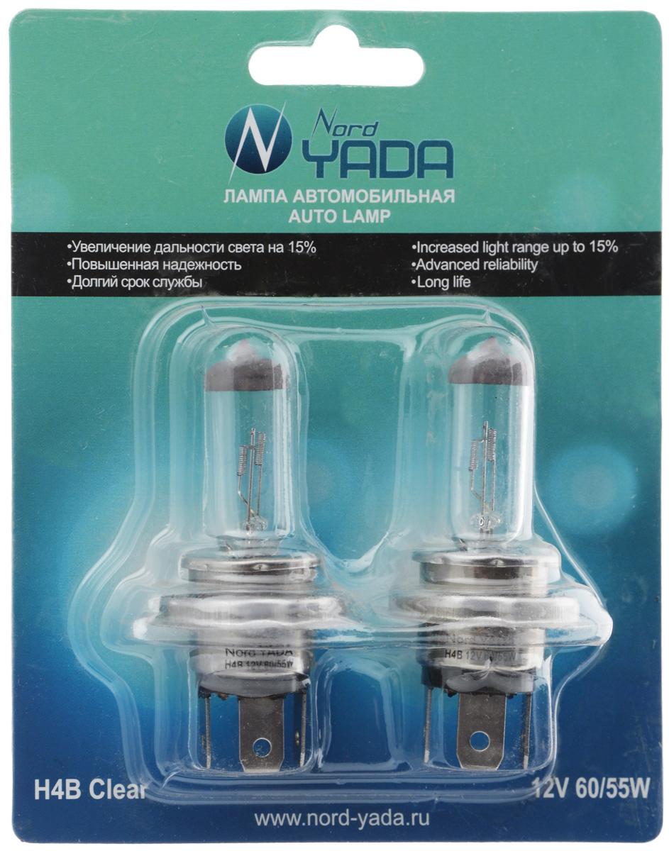 Лампа автомобильная галогенная Nord YADA Clear, цоколь H4B, 12V, 60/55W, 2 шт902143Лампа автомобильная галогенная Nord YADA Clear - это электрическая галогенная лампа с вольфрамовой нитью для автомобилей и других моторных транспортных средств. Виброустойчива, надежна, имеет долгий срок службы, увеличивает дальность света на 15%. Галогенные лампы предназначены для использования в фарах ближнего, дальнего и противотуманного света. Серия Clear обеспечивает водителю классический оттенок светового пятна на дороге, к которому привыкло большинство водителей.