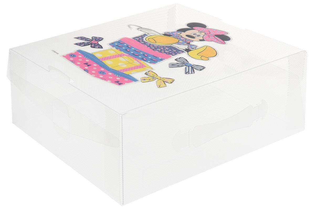 Коробка для хранения обуви Disney Минни на коробках, 33 х 20 х 12 см64912_минни на коробкахКоробка Disney Минни изготовлена из высококачественного прозрачного полипропилена. Она специально предназначена для хранения обуви. Прозрачная поверхность позволяет увидеть, какая обувь внутри. Изделие легко собирается и не занимает много места. С помощью боковой крышки можно доставать обувь, не снимая коробку с полки. Коробка для хранения Disney Минни- идеальное решение для аккуратного хранения вашей обуви в межсезонье. Размер коробки (в собранном виде): 33 х 20 х 12 см.