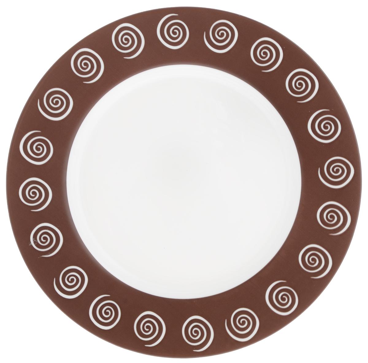 Тарелка обеденная Luminarc Sirocco Brown, диаметр 24 смH4785Обеденная тарелка Luminarc Sirocco Brown, изготовленная из высококачественного стекла, имеет изысканный внешний вид. Такой дизайн придется по вкусу и ценителям классики, и тем, кто предпочитает утонченность. Тарелка Luminarc Sirocco Brown идеально подойдет для сервировки стола и станет отличным подарком к любому празднику.