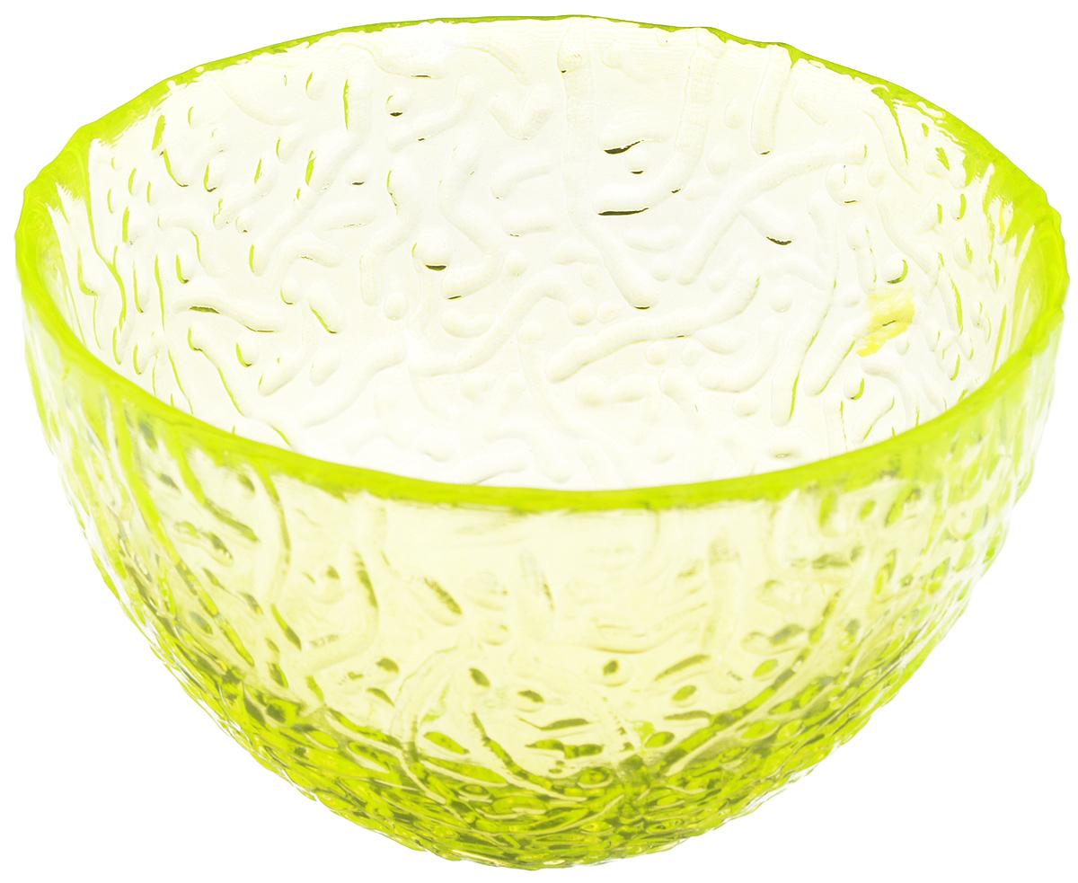 Салатник Ninaglass Ажур, цвет: неоновый желтый, диаметр 12 смNG83-040YСалатник Ninaglass Ажур выполнен из высококачественного стекла и имеет рельефную поверхность. Он прекрасно впишется в интерьер вашей кухни и станет достойным дополнением к кухонному инвентарю. Не рекомендуется использовать в микроволновой печи и мыть в посудомоечной машине.