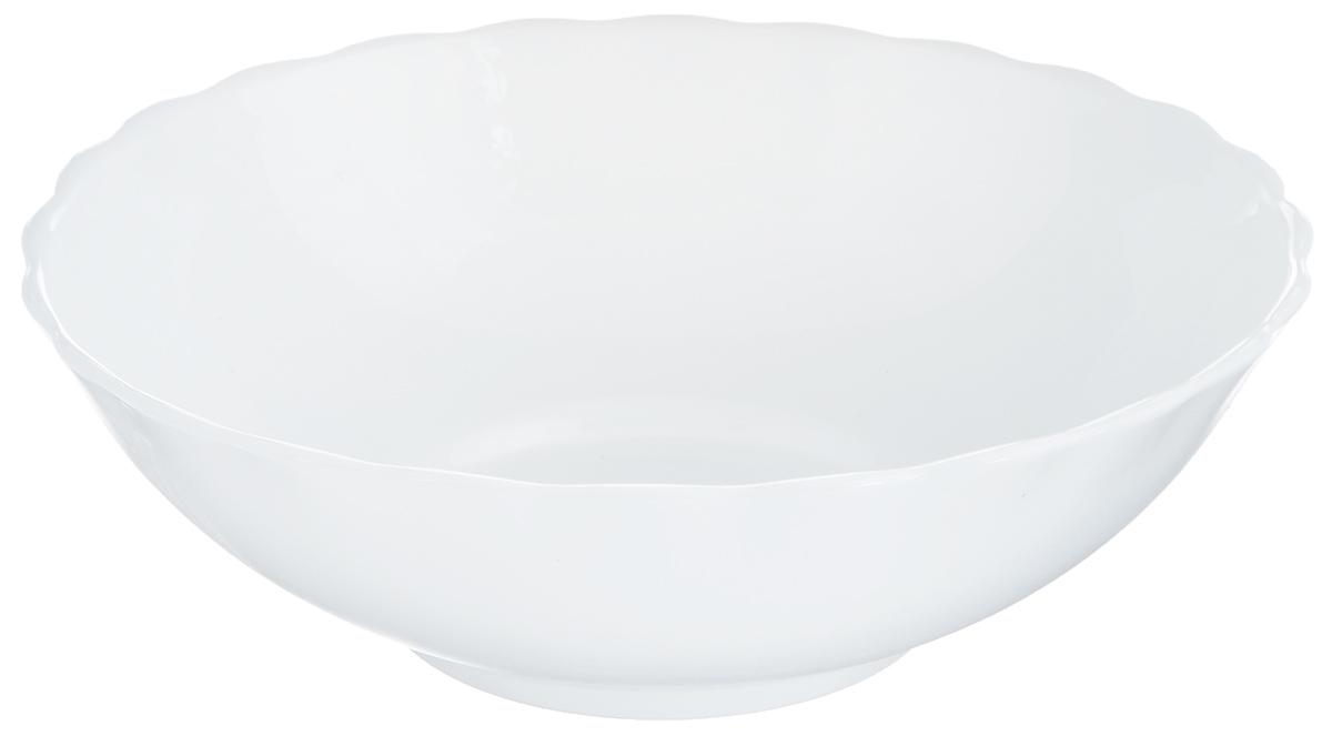 Салатник Hua Min, диаметр 22,7 смHW-90Салатник Hua Min, изготовленный из высококачественного стекла, прекрасно впишется в интерьер вашей кухни и станет достойным дополнением к кухонному инвентарю. Он не только украсит ваш кухонный стол и подчеркнет прекрасный вкус хозяйки, но и станет отличным подарком.