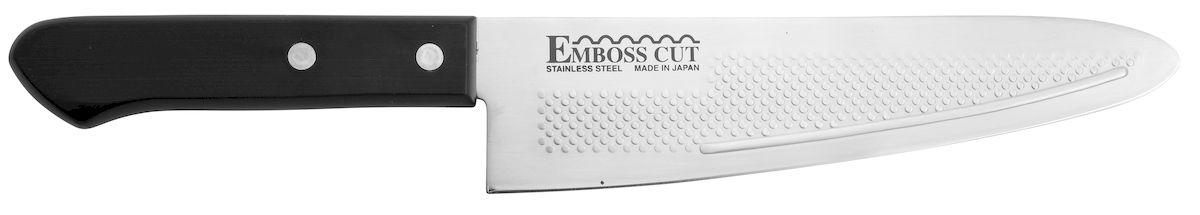 Нож поварской Tojiro Rasp Series, длина лезвия 18,5 смFC-14К ножам Rasp Series от Tojiro продукты не прилипают. Это способствует более быстрому и комфортному приготовлению Ваших любимых блюд.