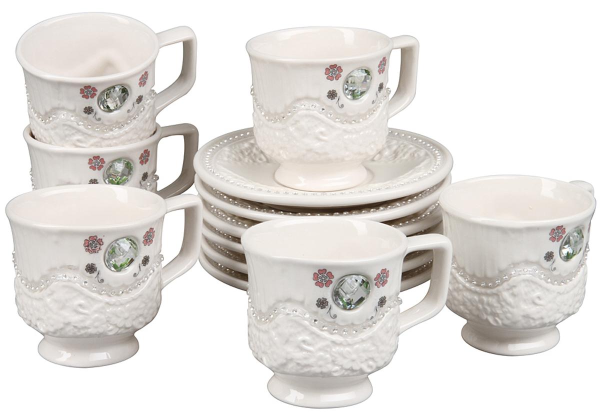 Чайный набор Rosenberg, 12 предметов. 869377.858@22860чайный набор, 12 предметов, чашка 170мл, блюдце 14 х 14 см