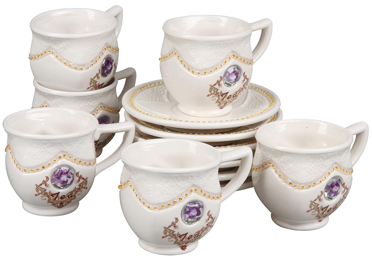Чайный набор Rosenberg, 12 предметов. 869577.858@22862чайный набор, 12 предметов, чашка 200 мл, блюдце 14 х 14 см