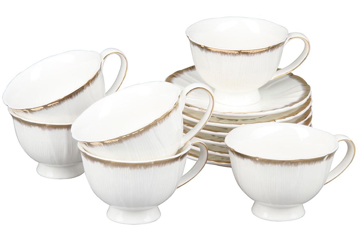 Чайный набор Rosenberg, 12 предметов, 240мл. 870677.858@22972чайный набор, 12 предметов, чашка 150 мл блюдце 13.6 х 13.6 см