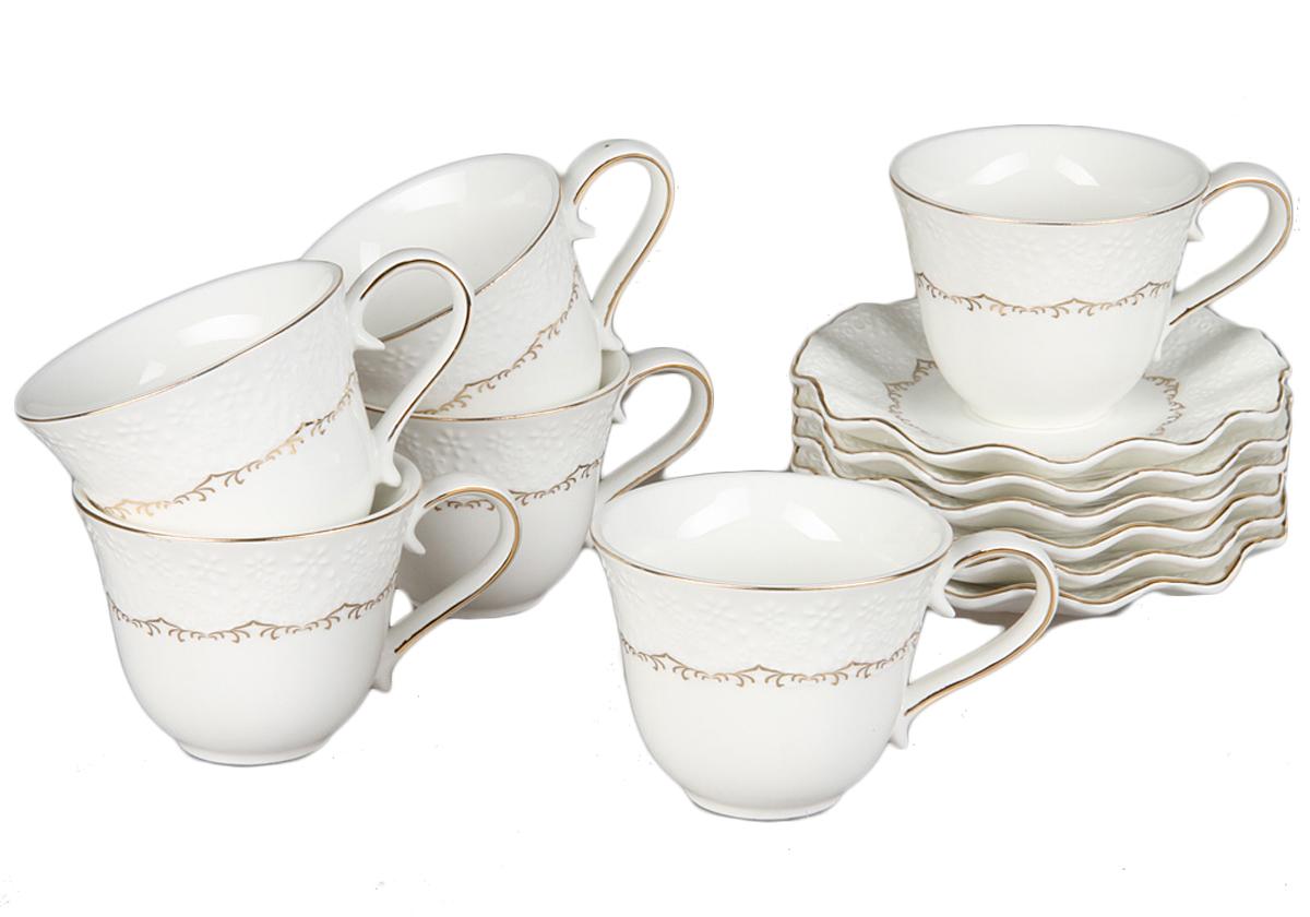 Чайный набор Rosenberg, 12 предметов, 220мл. 870877.858@22975чайный набор, 12 предметов, чашка 150мл блюдце 14 х 14 см