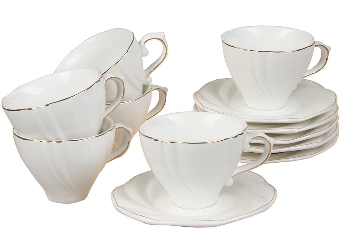 Чайный набор Rosenberg, 12 предметов, 200мл. 871977.858@22989чайный набор, 12 предметов, чашка 175 мл блюдце 14 х 14 см
