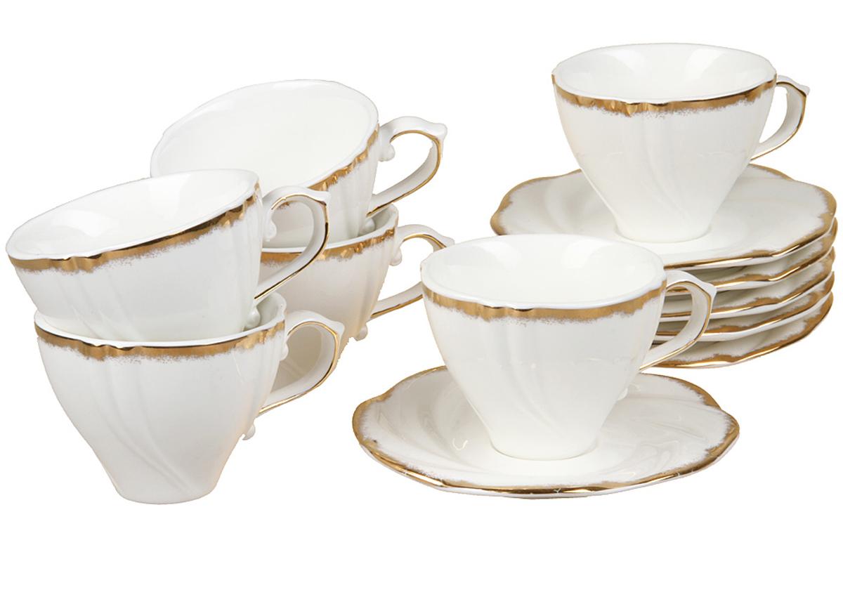 Чайный набор Rosenberg, 12 предметов, 200мл. 872177.858@22991чайный набор, 12 предметов, чашка 200мл блюдце 14 х 14 см