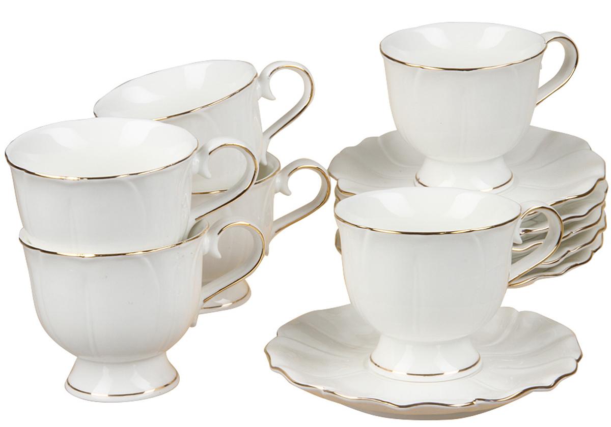 Чайный набор Rosenberg, 12 предметов, 220мл. 872377.858@22993чайный набор, 12 предметов, чашка 200мл блюдце 15 х 15 см