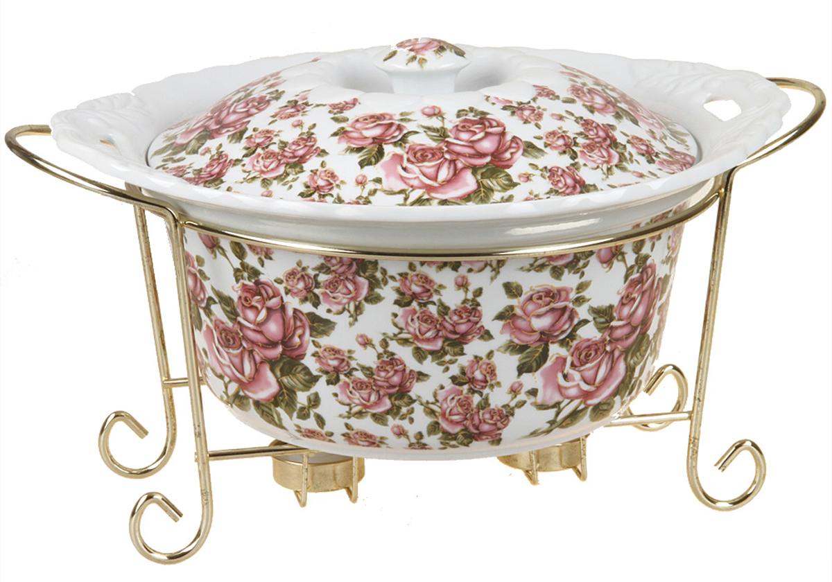 Форма для горячего Rosenberg, 32см, корейская роза. 9333-KR77.858@23113форма для горячего, керамика, размеры 35 х 29 х 20 см, 3000мл