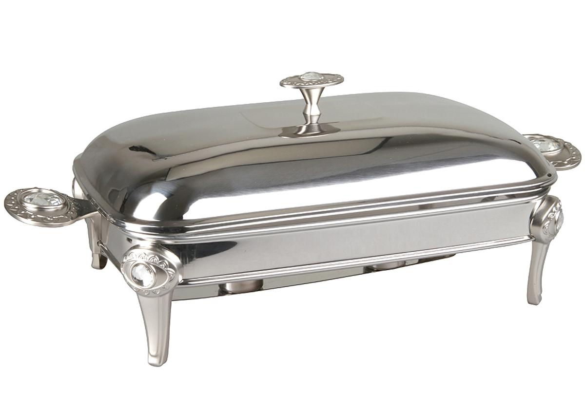 Форма для горячего Rosenberg. 442277.858@23238форма для горячего, размеры 52 х 25.5 х 20 см,объем 3,0 литра. Крышка и подставка из нержавеющей стали, жаропрочное стекло Sabinex.