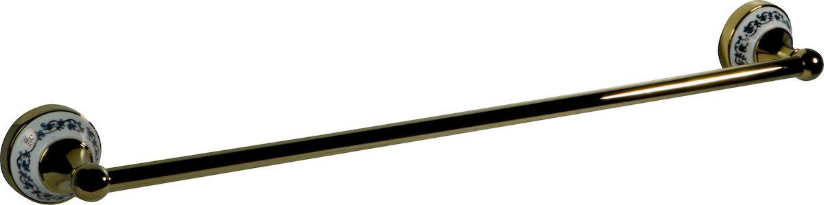 Держатель для полотенец РМС, настенный, цвет: золото. А1030А1030Держатель для банного полотенца, крепление к стене, золотой цвет