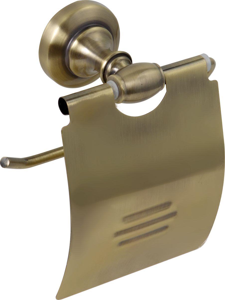 Держатель для туалетной бумаги РМС, с крышкой, цвет: бронза. А3010А3010Держатель для туалетной бумаги с крышкой, крепление к стене, бронзовый цвет