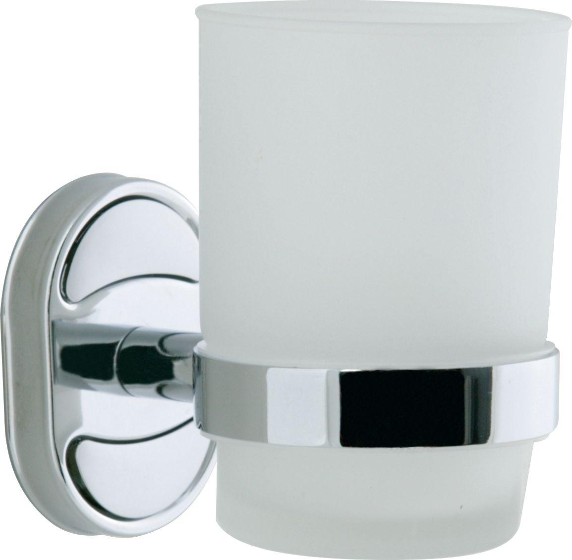 Стакан для ванной комнаты РМС, цвет: хром. А6020А6020Держатель для зубных щеток, крепление к стене, хромированный