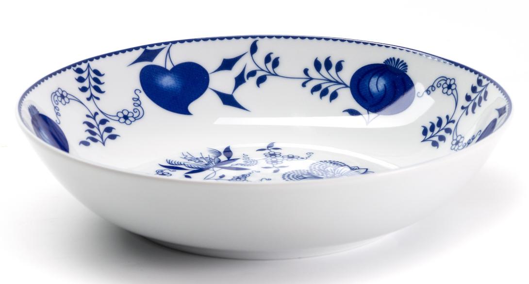 Тарелка глубокая La Rose des Sables Ognion Bleu, диаметр 21 см550221 1313Тарелка La Rose des Sables Ognion Bleu, изготовленная из высококачественного фарфора, имеет классическую круглую форму. Она прекрасно впишется в интерьер вашей кухни и станет достойным дополнением к кухонному инвентарю. Тарелка La Rose des Sables Ognion Bleu подчеркнет прекрасный вкус хозяйки и станет отличным подарком. Диаметр тарелки (по верхнему краю): 21 см.
