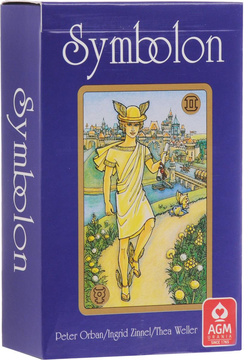Карты Таро AGM Symbolon / Симболон, инструкция на английском языке. AGM 12532AGM 12532Цель колоды Симболон заключается в воссоздании прошлых инкарнаций. На картах показаны изображения из Европейских мифов и истории и на каждом углу карт присутствуют астрологические символы. Несмотря на свое главное назначение как колоды для психологической работы и работы с памятью, Симболон может также использоваться, при некотором знании астрологии, для предсказания будущего.