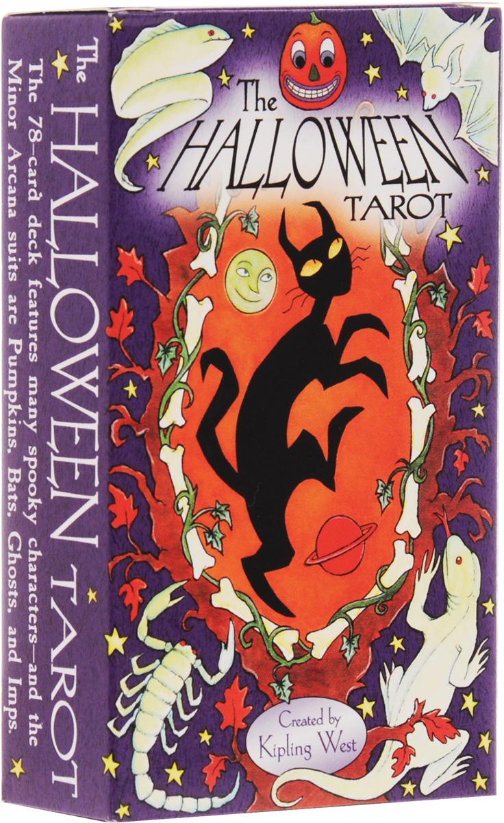 Карты Таро AGM Halloween Tarot / Халлоуин таро, инструкция на английском языке. AGM 15766AGM 15766Колода на тему Халлоуина базирующаяся на системе Райдера-Уайта. Много черного и оранжевого цвета, вампиров, скелетов, летучих мышей и страшных тыкв-светильников.