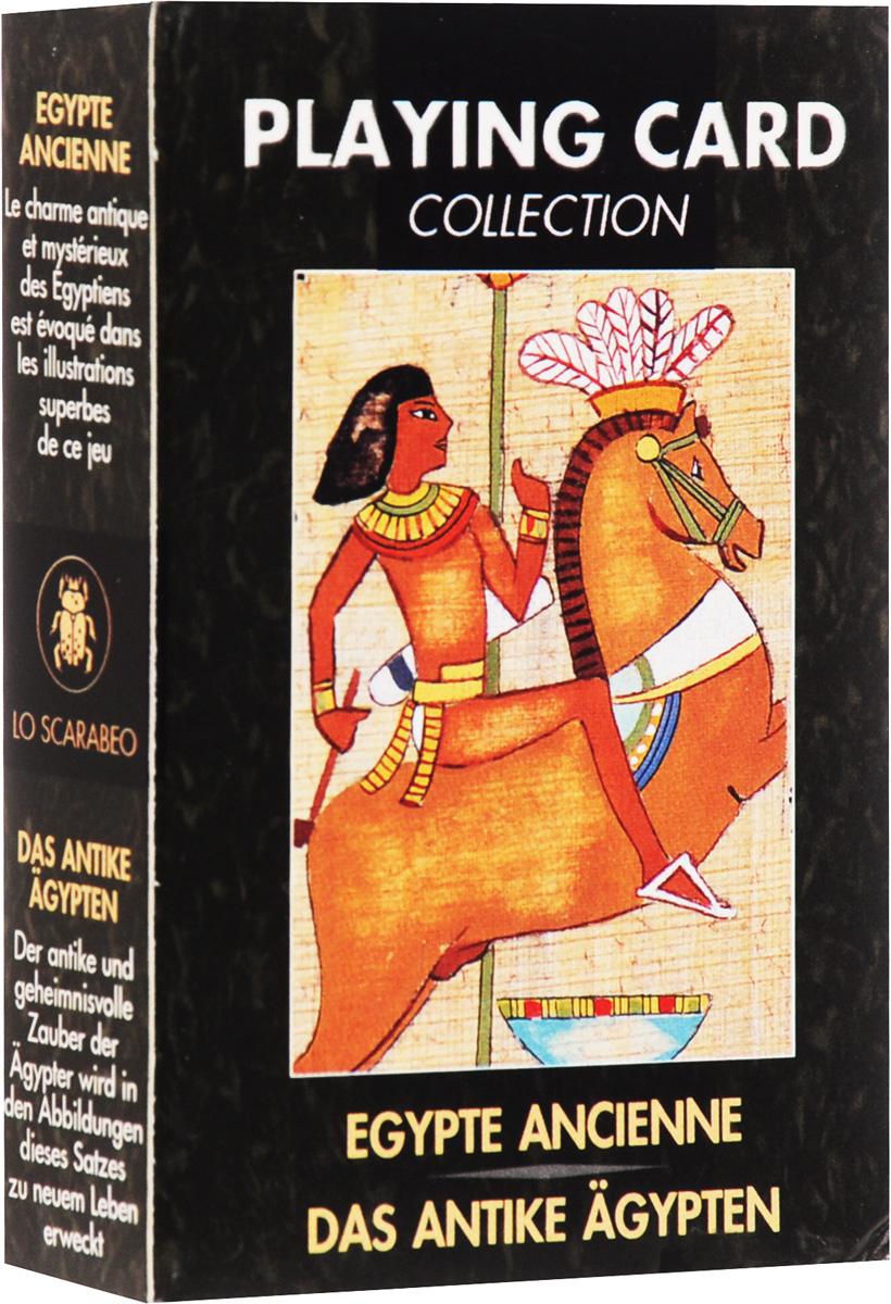 Карты игральные Lo Scarabeo Древний Египет, 54 карты. PC10РС10В основу оформления колоды положены иллюстрации, посвященные великой цивилизации - Древнему Египту. Знаменитые египетские пирамиды - это древнейшие архитектурные памятники, одно из Семи чудес света, поэтому они притягивают к себе своей таинственностью и монументальностью на протяжении многих столетий.