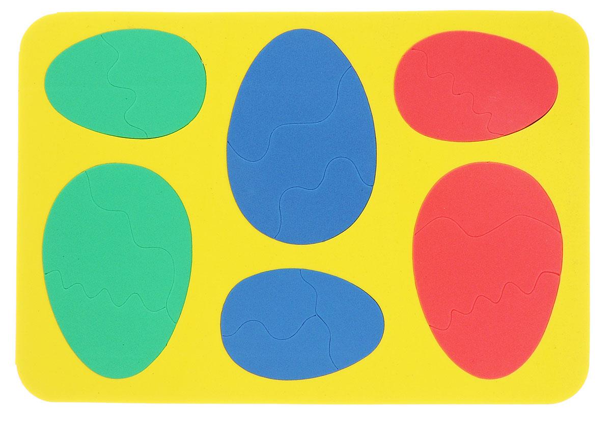 Бомик Пазл для малышей Яйца цвет основы желтый111_желтыйПазл для малышей Бомик Яйца выполнен из мягкого полимера, поэтому его детали легко гнутся и не ломаются, их всегда можно состыковать. Пазл представляет собой основу, в которой из элементов разной формы, размеров и цветов собираются яйца. Ваш ребенок может собирать его и в ванной. Элементы можно намочить, благодаря чему они будут хорошо прилипать к стене в ванной комнате. Пазлы способствуют развитию моторики пальцев и рук ребенка, развивают координацию движений, обостряют внимание, улучшают память, помогают научиться воспринимать детали, как часть целого, развивают фантазию и пространственное мышление.