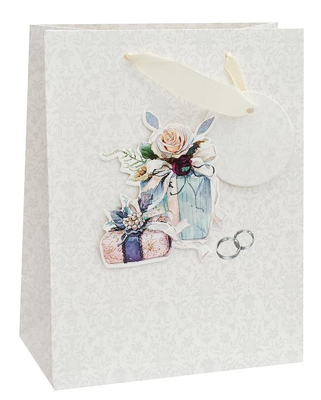 Пакет подарочный Белоснежка Свадебный подарок, 18 х 23 х 10 см1353-SBПакет подарочный Свадебный подарок выполнен из качественной плотной бумаги с хорошей печатью, объемные элементы на пакете придают дополнительный яркий акцент.