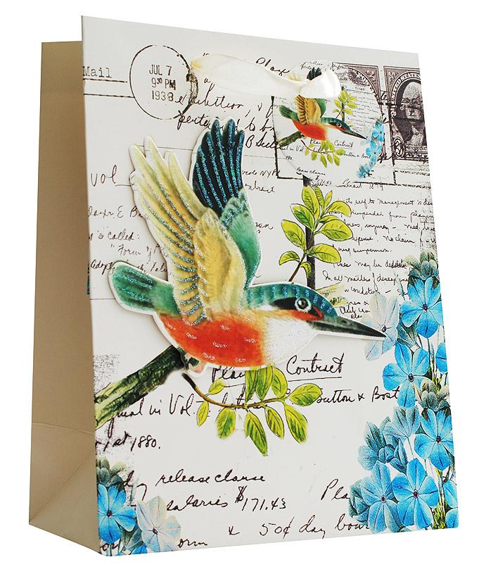 Пакет подарочный Белоснежка Райская птичка, 18 х 23 х 10 см1470-SBПодарочный пакет Райская птичка выполнен из качественной плотной бумаги с хорошей печатью, объемные элементы на пакете придают дополнительный яркий акцент.