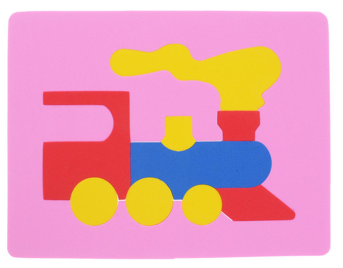 Фантазер Пазл для малышей Паровозик цвет основы розовый063551Т_розовыйПеред вами уникальная игрушка: мягкий конструктор Паровозик от бренда Фантазер. Особый материал этой мозаики дает юному конструктору новые удивительные возможности в игре: гнется, но не ломается. Преимущество заключается в том, что детали всегда можно состыковать. Отличная компания для ребенка - мягкая и безопасная игрушка. Мягкий конструктор предназначен не только для настольных игр, но и для игр в ванной, так как если его намочить, он будет висеть на стене. Рекомендуемый возраст от 3 до 6 лет.