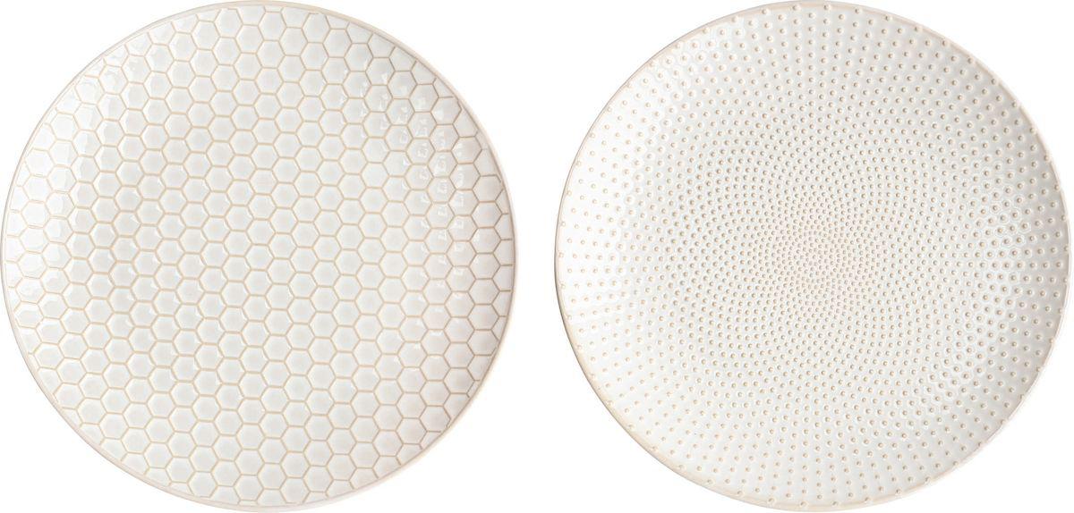 Набор тарелок Asa Selection Linna, цвет: белый, 2 шт. 90404/07190404/071Набор LINNA из 2х тарелок. Диаметр 20,3 см. Материал: фарфор.