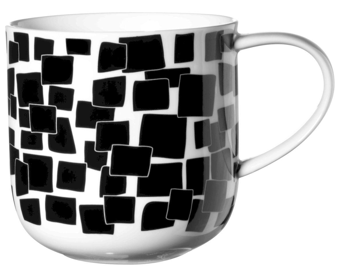 Чашка Asa Selection Coppa. Квадраты, 400 мл, цвет: черный, белый. 19102/01419102/014Чашка COPPA, квадраты. Объем: 0,4 литра. Материал: фарфор. Цвет: черно-белый.