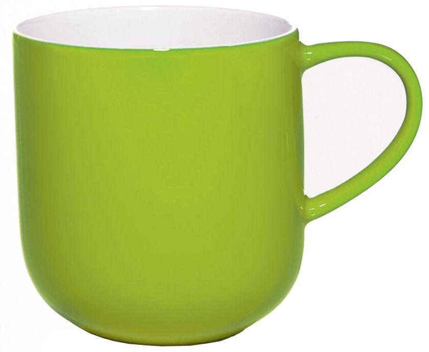 Чашка Asa Selection Coppa, 410 мл, цвет: салатовый. 19100/80119100/801Чашка COPPA двухцветная. Объем: 0,41 литра. Материал: фарфор. Цвет: салатный.