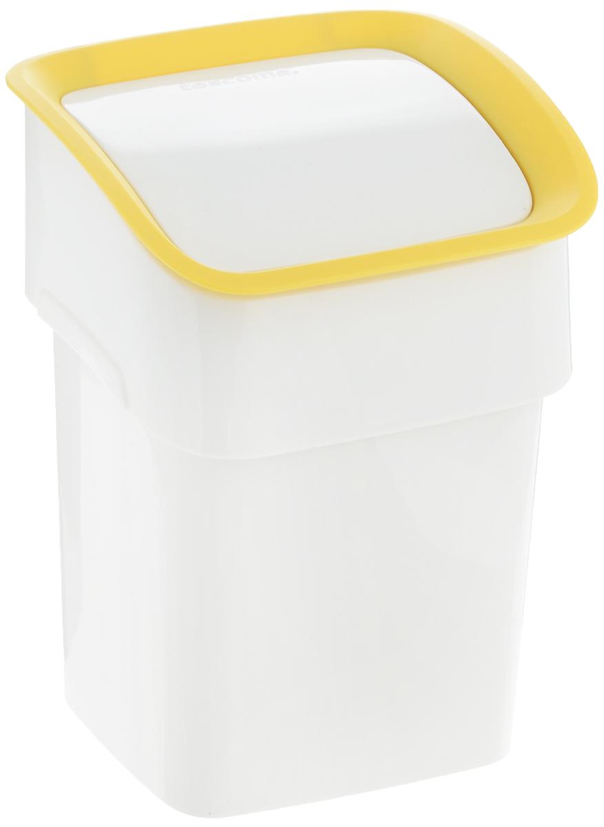 Контейнер для мусора Tescoma Clean Kit, настольный, цвет: белый, желтый, 2,4 л900682_белый, желтыйКонтейнер для мусора Tescoma Clean Kit изготовлен из высококачественного прочного пластика. Такой аксессуар очень удобен в использовании как дома, так и в офисе. Контейнер снабжен удобной крышкой с подвижной перегородкой. Стильный дизайн сделает его прекрасным украшением интерьера. Можно мыть в посудомоечной машине.