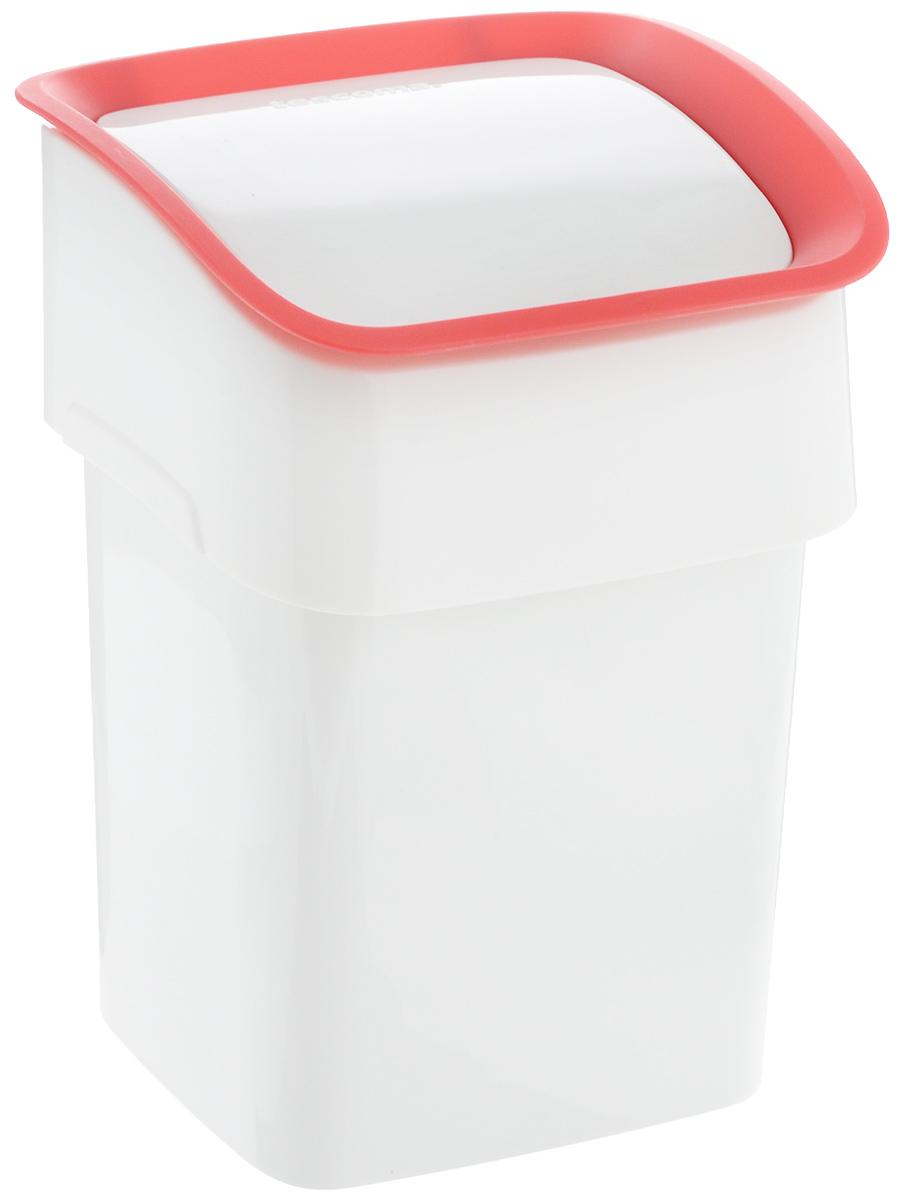 Контейнер для мусора Tescoma Clean Kit, настольный, цвет: белый, красный, 2,4 л900682_белый, красныйКонтейнер для мусора Tescoma Clean Kit изготовлен из высококачественного прочного пластика. Такой аксессуар очень удобен в использовании как дома, так и в офисе. Контейнер снабжен удобной крышкой с подвижной перегородкой. Стильный дизайн сделает его прекрасным украшением интерьера. Можно мыть в посудомоечной машине.