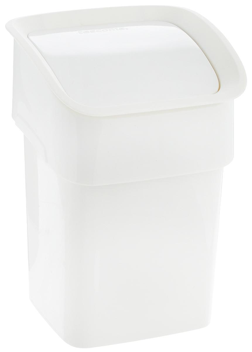 Контейнер для мусора Tescoma Clean Kit, настольный, цвет: белый, 2,4 л900682_белыйКонтейнер для мусора Tescoma Clean Kit изготовлен из высококачественного прочного пластика. Такой аксессуар очень удобен в использовании как дома, так и в офисе. Контейнер снабжен удобной крышкой с подвижной перегородкой. Стильный дизайн сделает его прекрасным украшением интерьера. Можно мыть в посудомоечной машине.