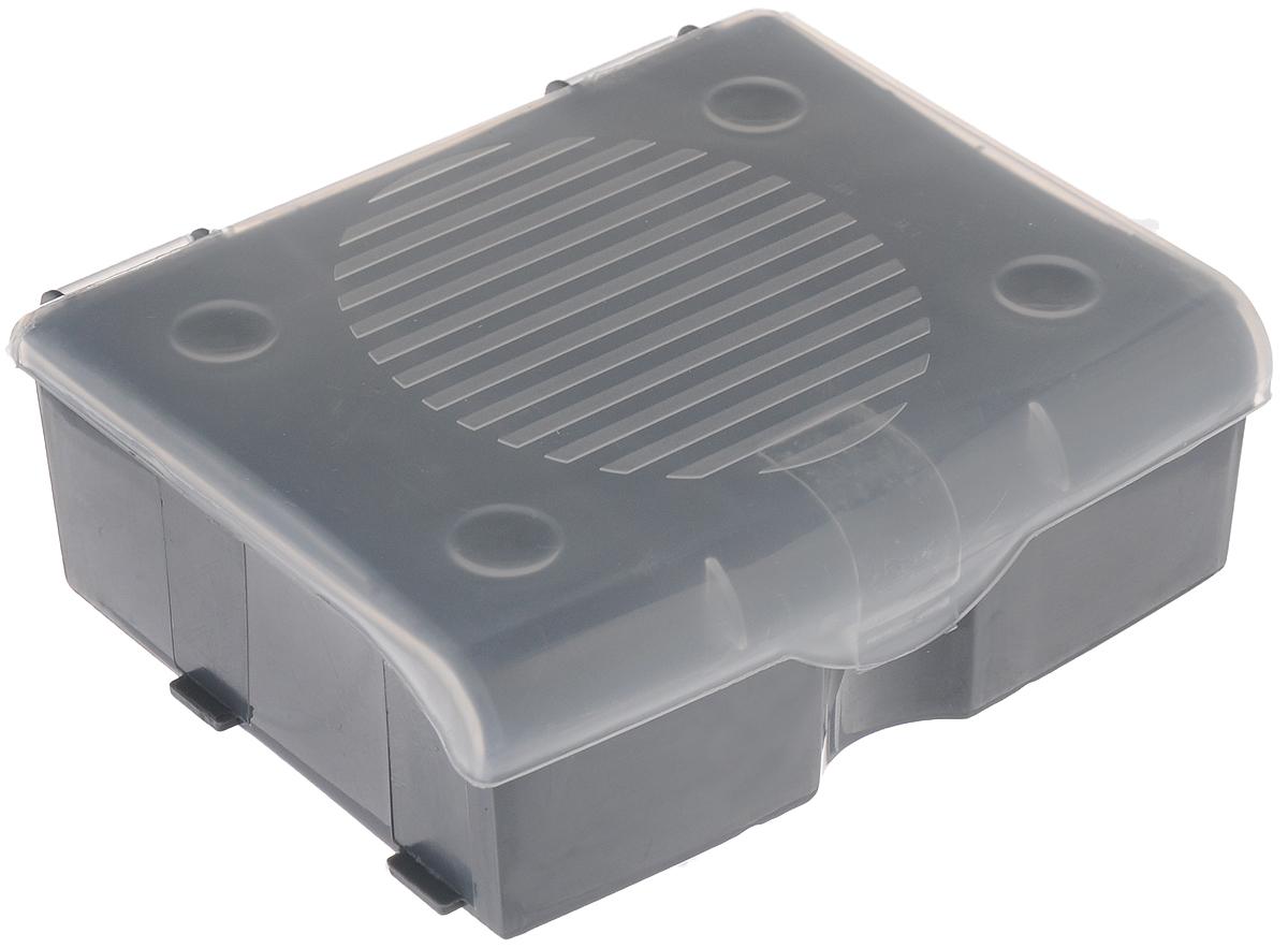 Органайзер для мелочей Blocker, цвет: серый, прозрачный, 11 х 9 х 4,2 смПЦ3713СРСВИНЦОрганайзер для мелочей Blocker предназначен для оптимальной организации пространства. Внутреннее деление на 3 секции делает удобным размещение внутри блока деталей, которые необходимо отделить друг от друга, а прозрачная крышка позволяет увидеть содержимое, не открывая блок. Подходит для хранения швейных принадлежностей, мелких деталей и рыболовных снастей. Крышка плотно закрывается и предотвращает потерю содержимого.