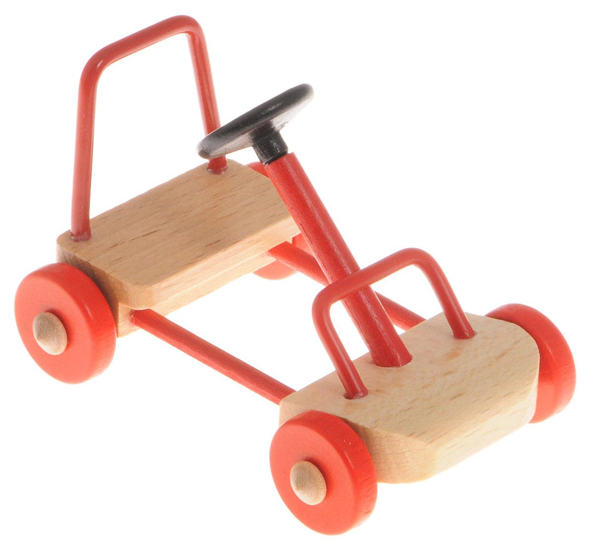 Fritz Canzler Машинка багги для кукол20306/01Машинка багги Fritz Canzler - это прекрасный аксессуар для игры с мини-куклами. Ваш ребенок может придумать и разыграть различные ситуации, например, гонки на машинах или загородную прогулку. Игрушка изготовлена из высококачественного материала, в производстве используется древесина бука и клена. Машинка багги Fritz Canzler обеспечивает развитие и обучение вашего ребенка в процессе игры. Производство осуществляется в Германии.