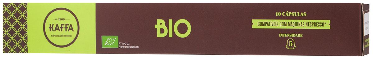 Kaffa Bio Крепость 5 кофе в капсулах, 10 шт5600293004317Бленд 100% Арабики Kaffa Bio обладает сбалансированным, мягким характером. Производится в ходе процессов сельскохозяйственного производства с ограниченным использованием пестицидов и химических удобрений.