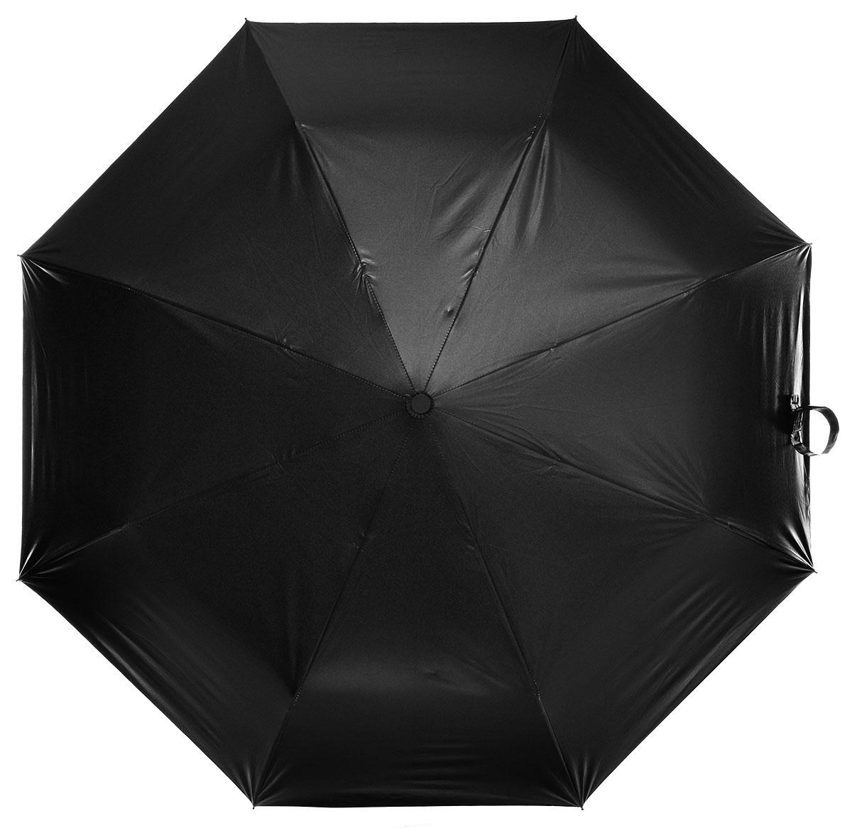 Зонт женский Эврика Небо с облаками, механика, 3 сложения, цвет: черный, голубой. 9525995259Оригинальный зонт Эврика не оставит вас незамеченной. С внутренней стороны зонт оформлен ярким изображением неба с облаками. Стержень изделия изготовлен из металла. Купол выполнен из качественного нейлона, который не пропускает воду. Зонт состоит из шести спиц, изготовленных из металла с элементами из пластика и пластиковой ручки. Зонт имеет механический способ сложения: и купол, и стержень открываются вручную до характерного щелчка. Ручка дополнена петлей, благодаря которой зонт можно носить на запястье. К зонту прилагается чехол. Благодаря своему небольшому размеру, зонт легко пометится в сумку. Раскрыв зонт можно увидеть внутри голубое небо с облаками. Такой оригинальный зонт станет отличным подарком и надежной защитой от непогоды.