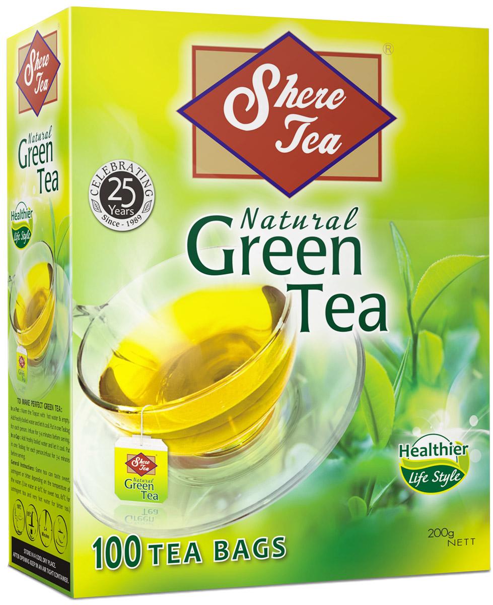 Shere Tea чай зеленый в пакетиках, 100 шт4791014002529Shere Tea зеленый мелколистовой ломаный чай в пакетиках, который имеет яркий, прозрачный настой с интенсивной окраской. Быстро заваривается. Чай имеет особый мягкий сладковатый вкус и аромат настоящего зеленого чая и оказывает благотворное влияние на организм. Двойные пакетики можно делить пополам.