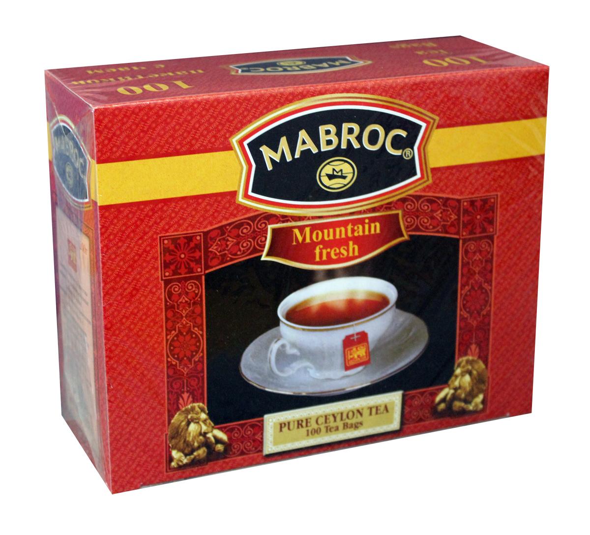 Mabroc Голд Свежесть горная чай черный в пакетиках, 100 шт4791029004235Черный чай Mabroc Голд - это качественный чай с собственных плантаций по наилучшей цене. Его насыщенный вкус и терпкий аромат никого не оставят равнодушным. Цейлонский черный мелколистовой ломаный чай в пакетиках. Настой яркий, прозрачный с интенсивной окраской. Быстро заваривается. Вкус терпкий с приятной горчинкой и хорошо выраженным ароматом..
