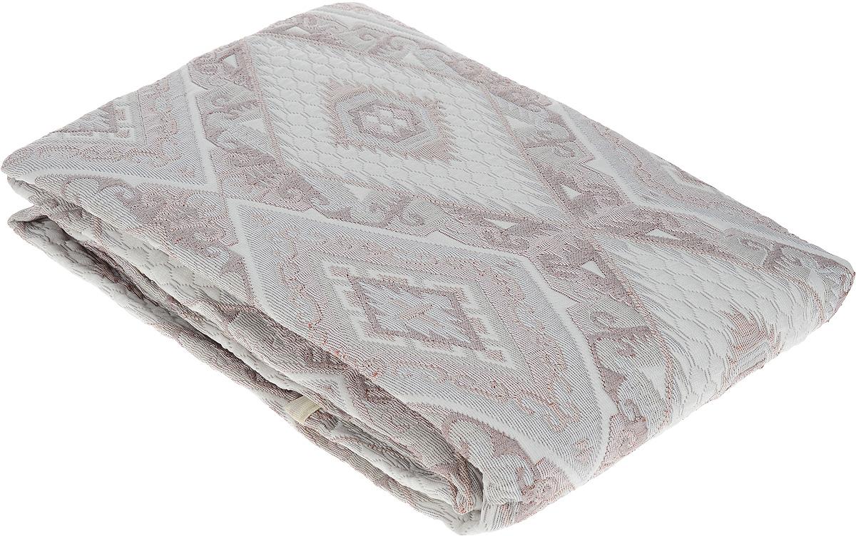 Покрывало Arya Tay-Pen, цвет: серый, светло-коричневый, 240 х 240 см. 1090_031090_Design 03Покрывало Arya Tay-Pen прекрасно оформит интерьер спальни или гостиной. Изделие изготовлено из 100% полиэстера. Жаккардовые покрывала уникальны, так как они практичны и универсальны в использовании. Жаккардовые ткани хорошо сохраняют окраску, слабо подвержены влиянию перепадов температур. Своеобразный рельефный рисунок, который получается в результате сложного переплетения на плотной ткани, напоминает гобелен. Изделие долговечно, надежно и легко стирается. Покрывало Arya Tay-Pen не только подарит тепло, но и гармонично впишется в интерьер вашего дома.
