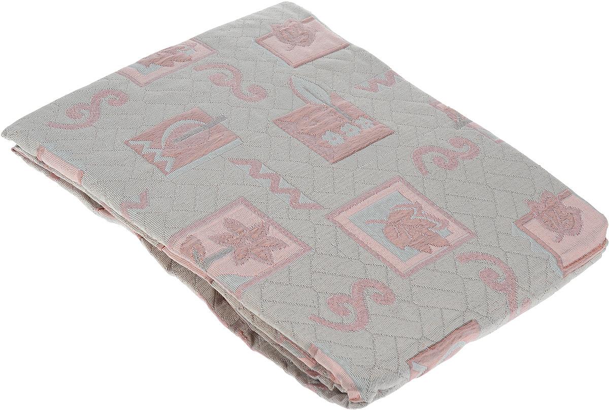 Покрывало Arya Tay-Pen, цвет: серо-бежевый, розовый, 240 х 170 см. 1062_851062_Design 85_серый, розовыйПокрывало Arya Tay-Pen прекрасно оформит интерьер спальни или гостиной. Изделие изготовлено из 100% полиэстера. Жаккардовые покрывала уникальны, так как они практичны и универсальны в использовании. Жаккардовые ткани хорошо сохраняют окраску, слабо подвержены влиянию перепадов температур. Своеобразный рельефный рисунок, который получается в результате сложного переплетения на плотной ткани, напоминает гобелен. Изделие долговечно, надежно и легко стирается. Покрывало Arya Tay-Pen не только подарит тепло, но и гармонично впишется в интерьер вашего дома.