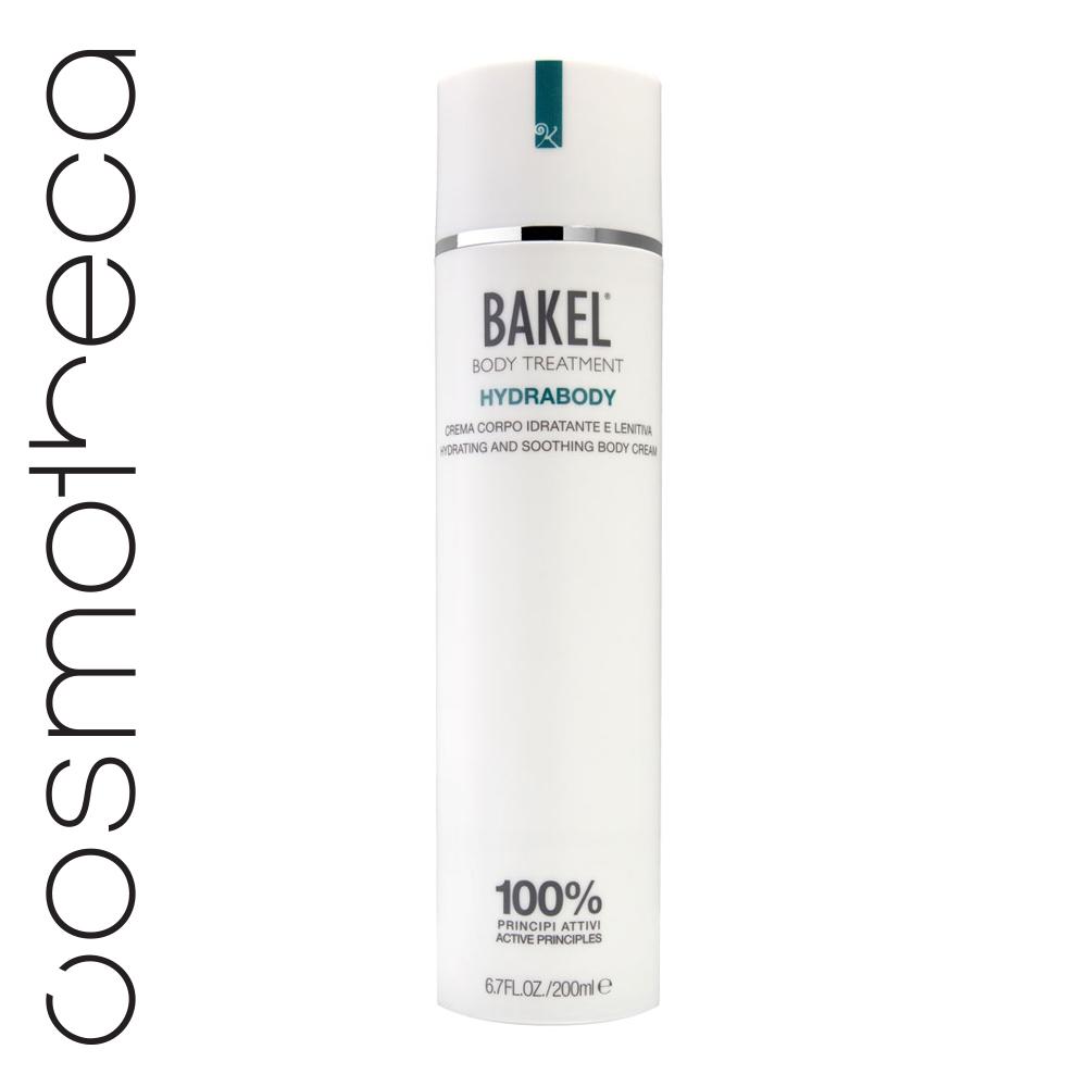 Bakel Крем для тела увлажняющий и успокаивающий 200 млHYDRABУвлажняющий и успокаивающий крем для тела с высоким содержанием сока алоэ вера, натуральных растительных и эфирных масел, образующих питательную и энергизирующую композицию. Идеально подходит для всех типов кожи. Моментально поглощаясь кожей, восстанавливает увлажнение, мягкость и эластичность кожи.
